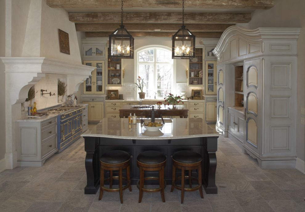 Ryan Homes Charlotte Nc   Rustic Kitchen Also Breakfast Bar Eat in Kitchen Exposed Beams French Country Island Lighting Kitchen Hardware Kitchen Island Kitchen Shelves Lanterns Pavers Pendant Lighting Range Hood Rustic Stone Flooring Two Tone Cabinets
