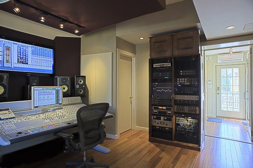 Sacramento Recording Studio with Modern Home Theater Also Modern