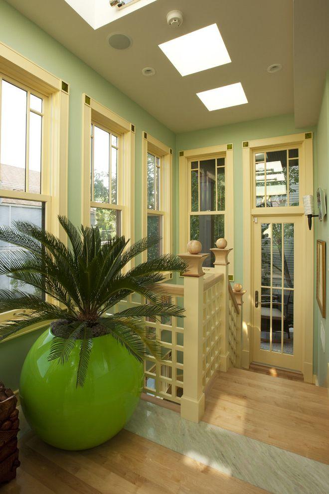 Sago Palm Care   Craftsman Entry Also Craftsman Front Entrance Glass Door Planter Pot Railing Wood Floor