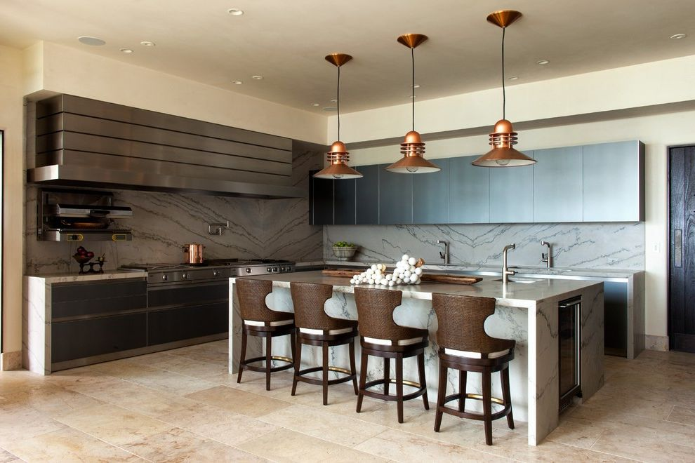 Salamander Cabinets with Contemporary Kitchen Also Dalle Dalle De Bourgogne French Limestone Italian Limestone Limestone Flooring Pendant Light Portuguese Limestone Pot Filler Recessed Lighting Reclaimed Flooring Woven Bar Stool