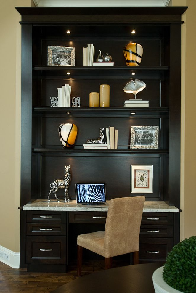 salt creek office furniture contemporary home office and bookshelves built in desk dark floor desk chair - Bookshelves And Desk Built In