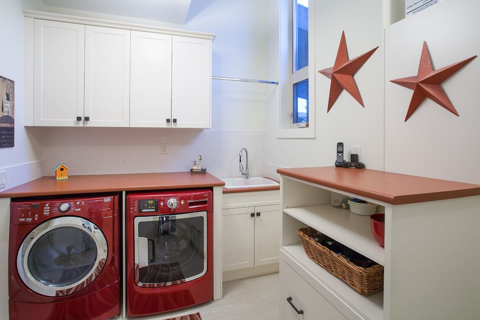 Samsung Red Washer and Dryer with Traditional Laundry Room Also Americana Contemporary Dark Stain Dilworth Espresso Stain Kelowna Laundry Maple Red and White Red Washer Dryer