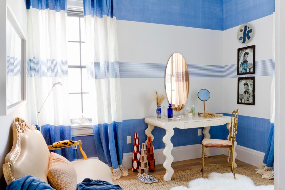 Samuels and Sons with Contemporary Bedroom  and Beach Bags Blue and White Edge Pulls