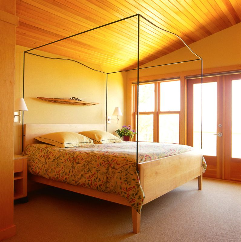 San Juan Cabins   Contemporary Bedroom  and Canopy Bed Wood Ceiling