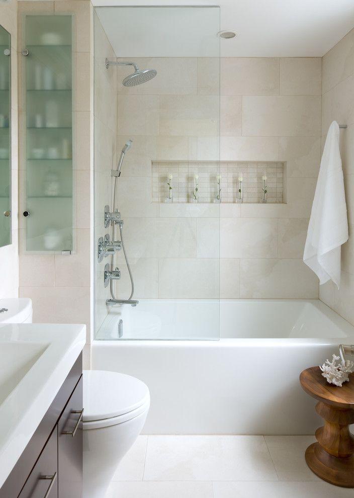 San Pablo Plumbing   Contemporary Bathroom Also Bathroom Furniture Bathroom Storage Inset Shelf Medicine Cabinet Minimal Shower Shelf Shower Tub Small Small Bathroom Towel Hook