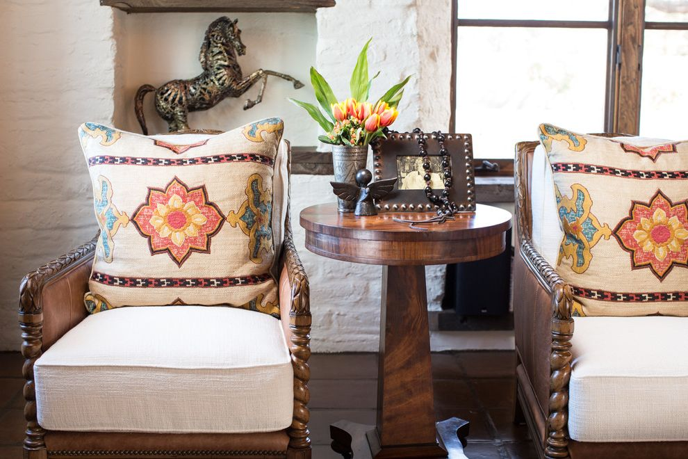 Santa Fe Furniture Stores   Southwestern Spaces Also Hacienda Santa Fe Santa Fe Style Interiors Southwestern Style Spanish Colonial Spanish Style Wood Carved Arm Chairs