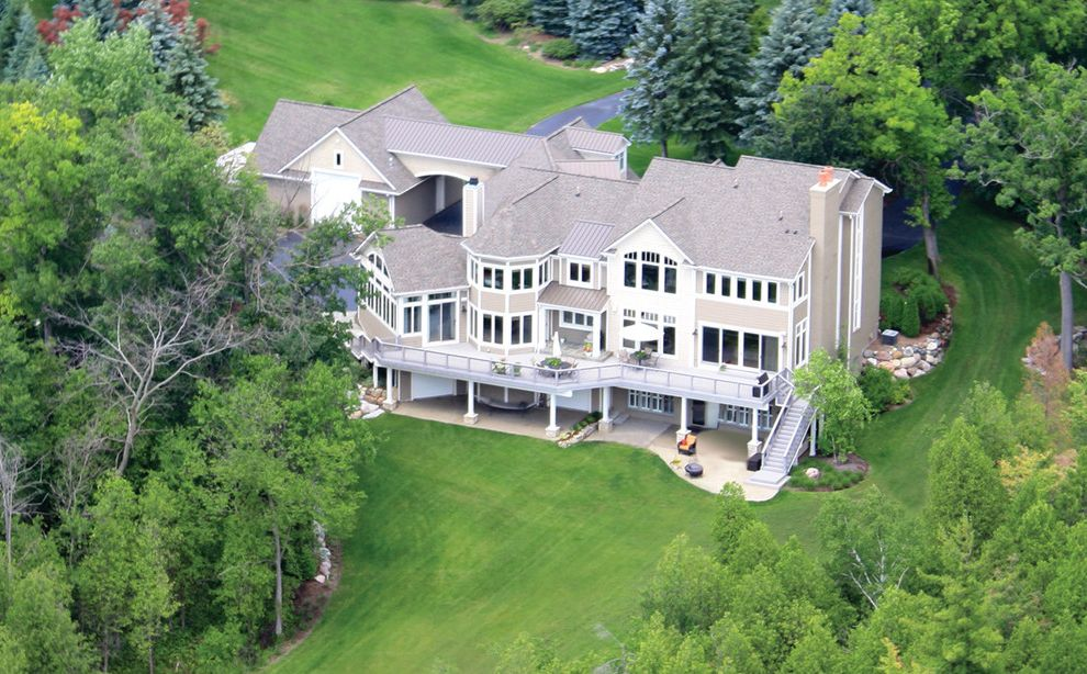 Schuster Homes with Traditional Exterior Also Cool Deck Exterior Stairs Lake Home Lake House Lake View Rear White Window Trim