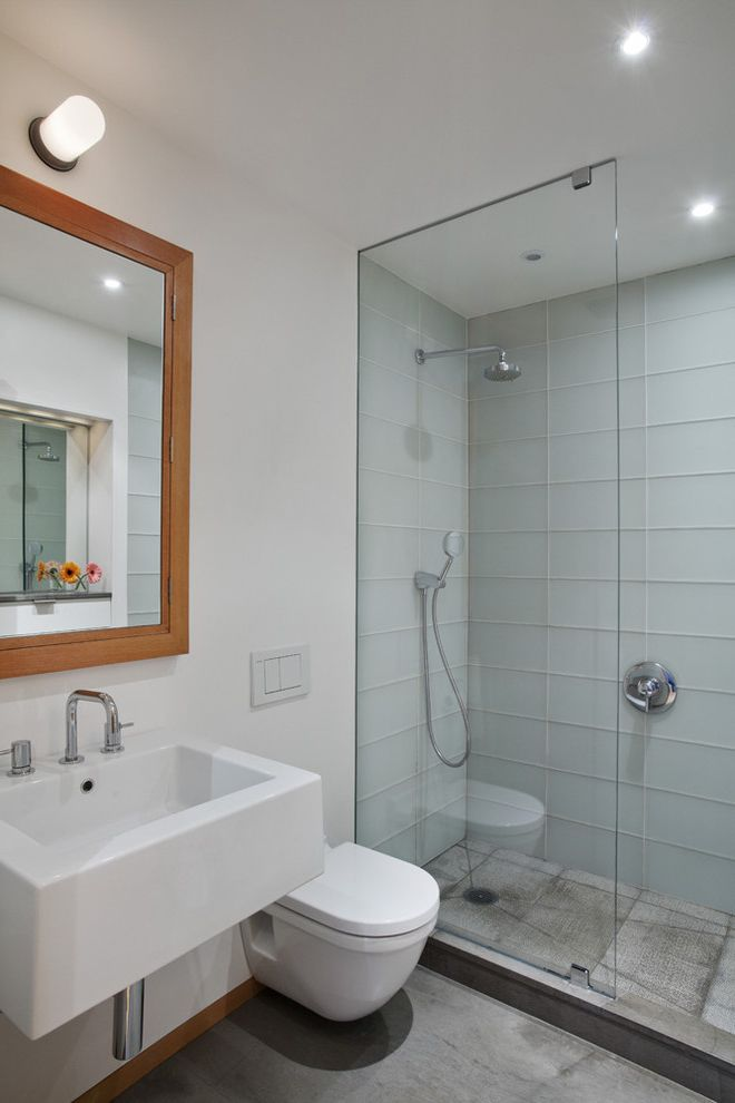 Scotch Glass Name with Contemporary Bathroom and Bathroom Lighting Bathroom Mirror Ceiling Lighting Glass Shower Door Glass Tile Medicine Cabinet Recessed Lighting Shower Tile Small Bathroom Wall Mount Sink Wall Mount Toile