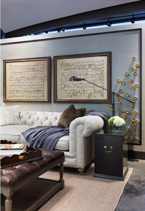 Scott Shuptrine   Shabby Chic Style Living Room  and Shabby Chic Style