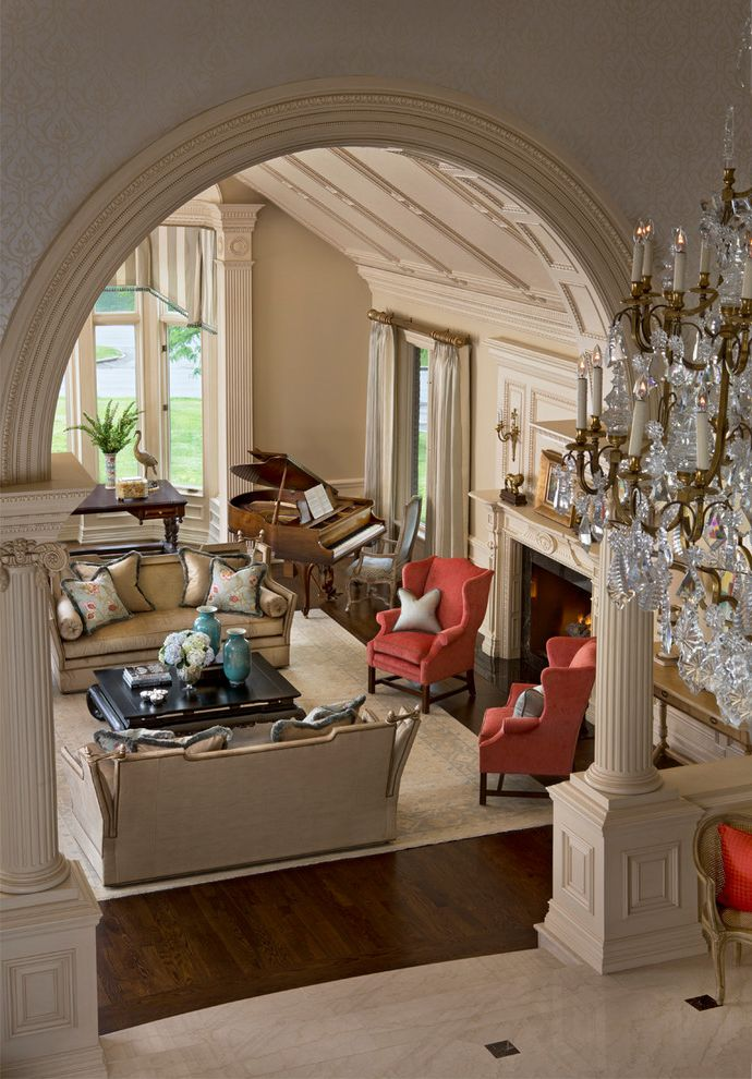 Scott Shuptrine   Traditional Living Room Also Luxury Renovation Traditional