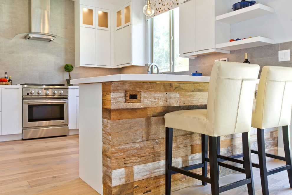 Scratch and Dent Appliances Katy   Transitional Kitchen  and Bellmont Cabinets Reclaim Wood Reclaimed Teak Reclaimed Wood Bar Rustic Modern
