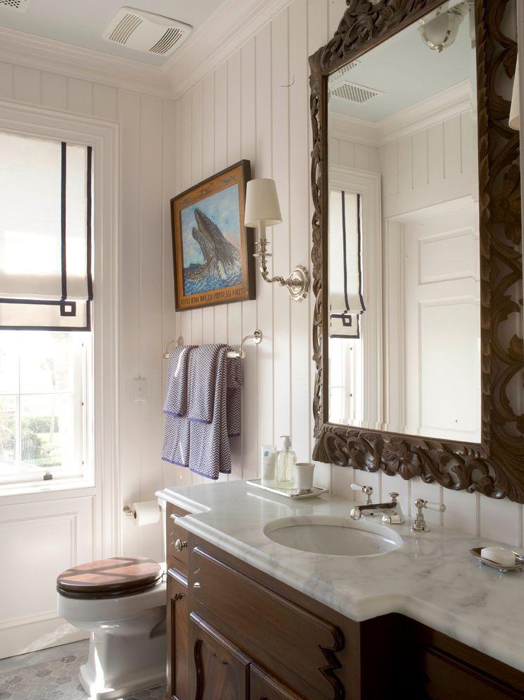 Sea Captains House   Beach Style Bathroom Also Antiques Bathroom Mirrors Bathroom Sink Beach Style Towel Bars