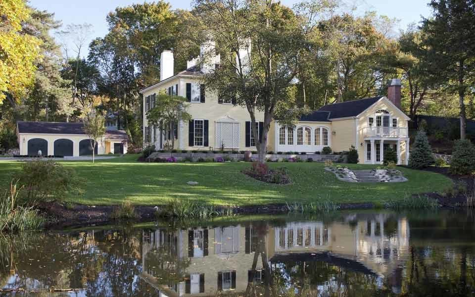 Sea Captains House   Traditional Exterior Also Barn Breezeway Carriage House Estate Kitchen Library Live Work Pantry Porch Reflection Study White Window Trim Yellow