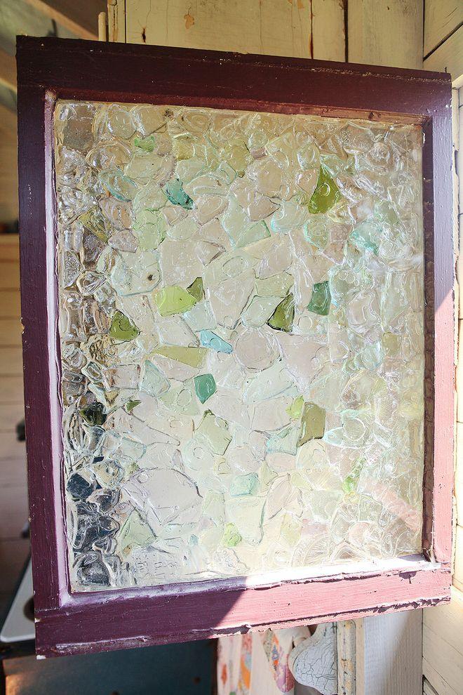 Sea Glass Art Ideas with Farmhouse Spaces Also Sea Glass Window