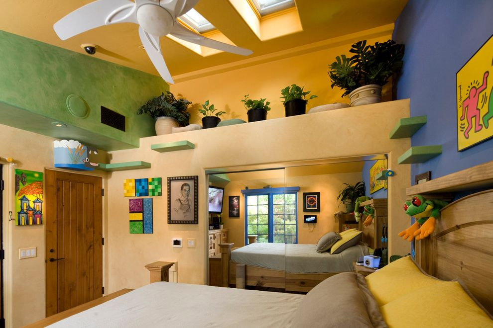 Security Camera That Connects to Phone with Eclectic Bedroom and Bedroom Catwalk Skylights Vaulted Ceilings Wall Shelves