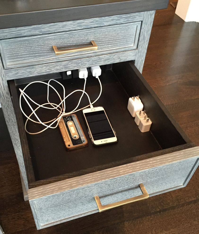 Security Camera That Connects to Phone with Rustic Home Office and Docking Drawer