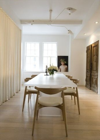 Serge Mouille Chandelier   Contemporary Dining Room  and Contemporary Dining Room Serge Mouille Serge Mouille Chandelier