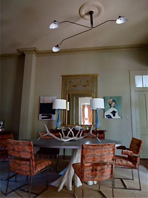 Serge Mouille Chandelier with Contemporary Dining Room  and Contemporary Dining Room Serge Mouille Serge Mouille Chandelier