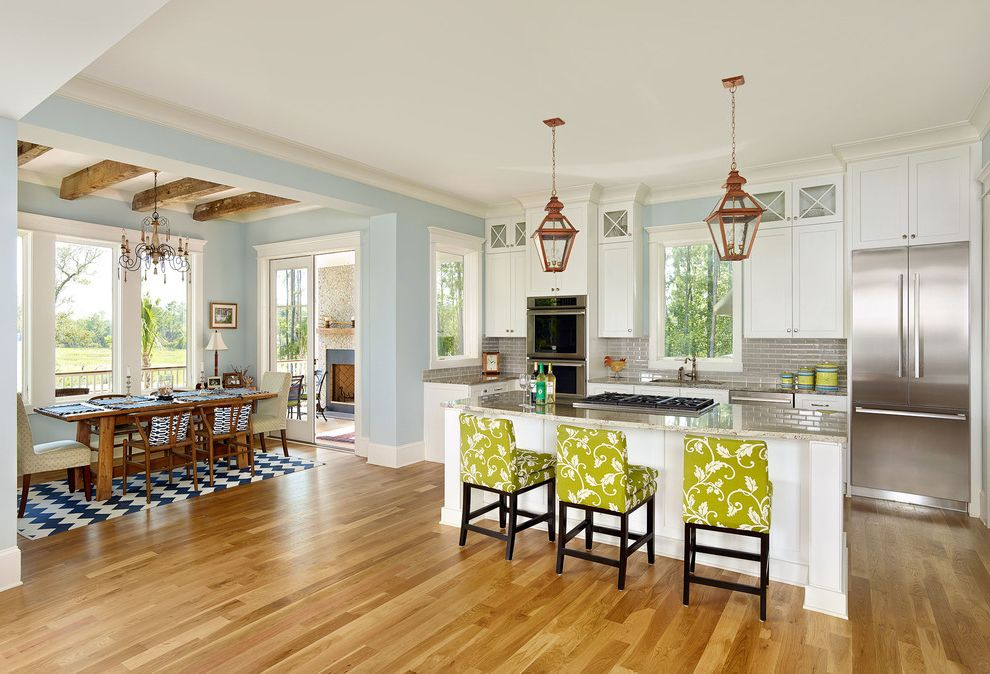 Servpro Charleston Sc with Beach Style Kitchen Also Beams Cool Colors Counter Stools Dining Area Pendant Lighting Rug Traditional Design Traditional Kitchen White Kitchen Windows