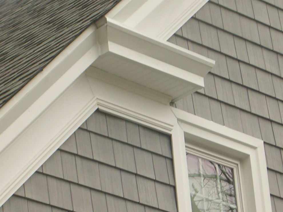 Shake Shack New Haven   Traditional Exterior Also Cedar Impressions 7 Gray Vinyl Siding Decorative Exterior Trim Exterior Pvc Trim Details