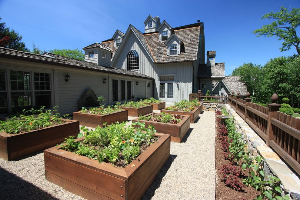 Shake Shack New Haven   Traditional Landscape Also Dormer Windows Edible Garden Geometric Geometry Gravel Order Permeable Paving Picket Fence Raised Beds Shake Roof Vegetable Garden Wood Fencing