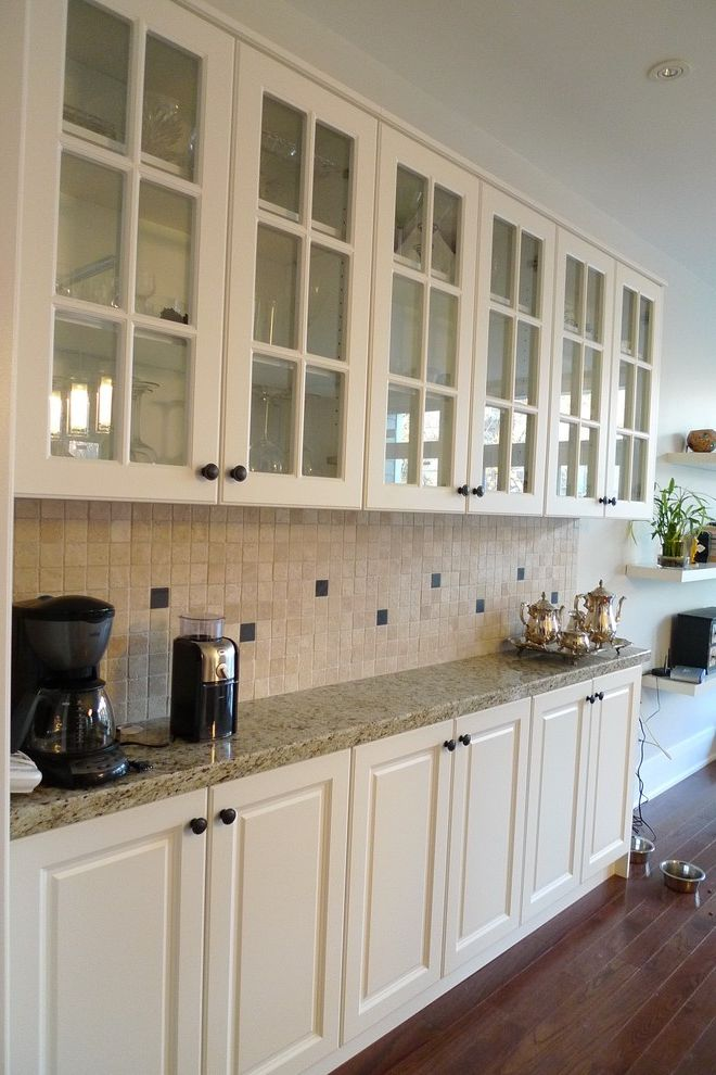 Shallow Depth Cabinets with Traditional Kitchen Also Traditional
