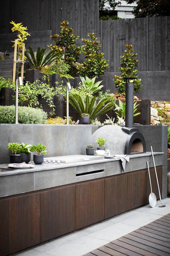 Sheetrock Installation Cost   Contemporary Patio  and Bbq Dark Wood Garden Landscape Design Outdoor Dining Outdoor Living Plants Pots Rass Sydney