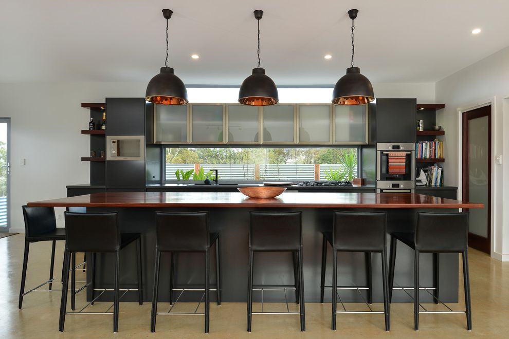 Shen Counters with Contemporary Kitchen Also Contemporary