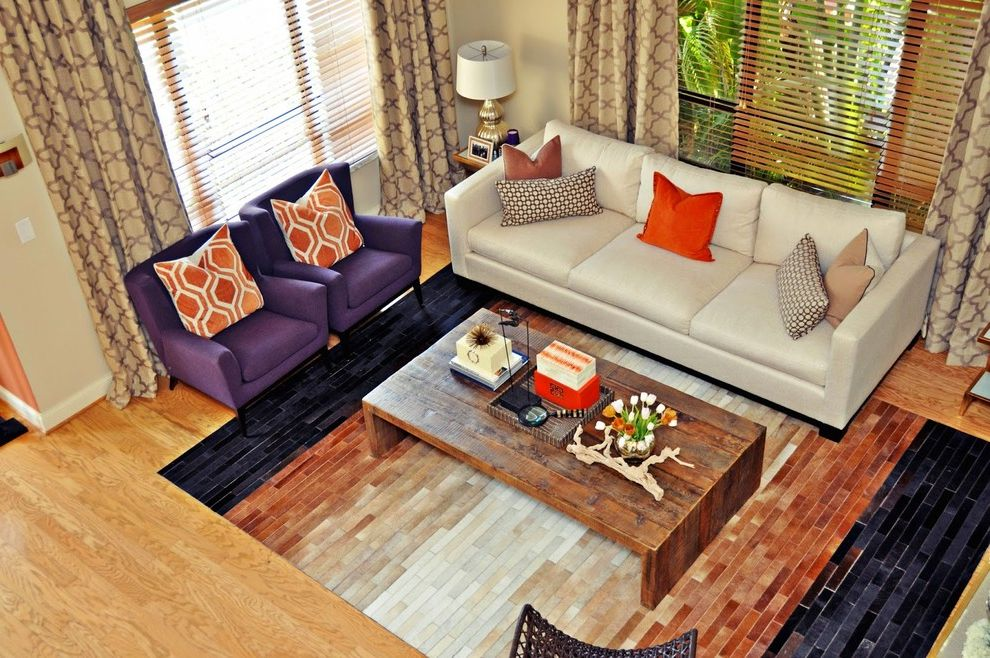 Sheridan Lumber with Transitional Living Room  and Abstract Art Bright Whites Chrome Details Coconut Grove Grey Miami Orchid Silver Wood Flooring