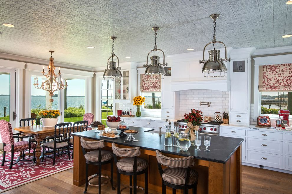 Shopcandelabra   Traditional Kitchen  and Beach Coastal Cottage Renovation Transitional
