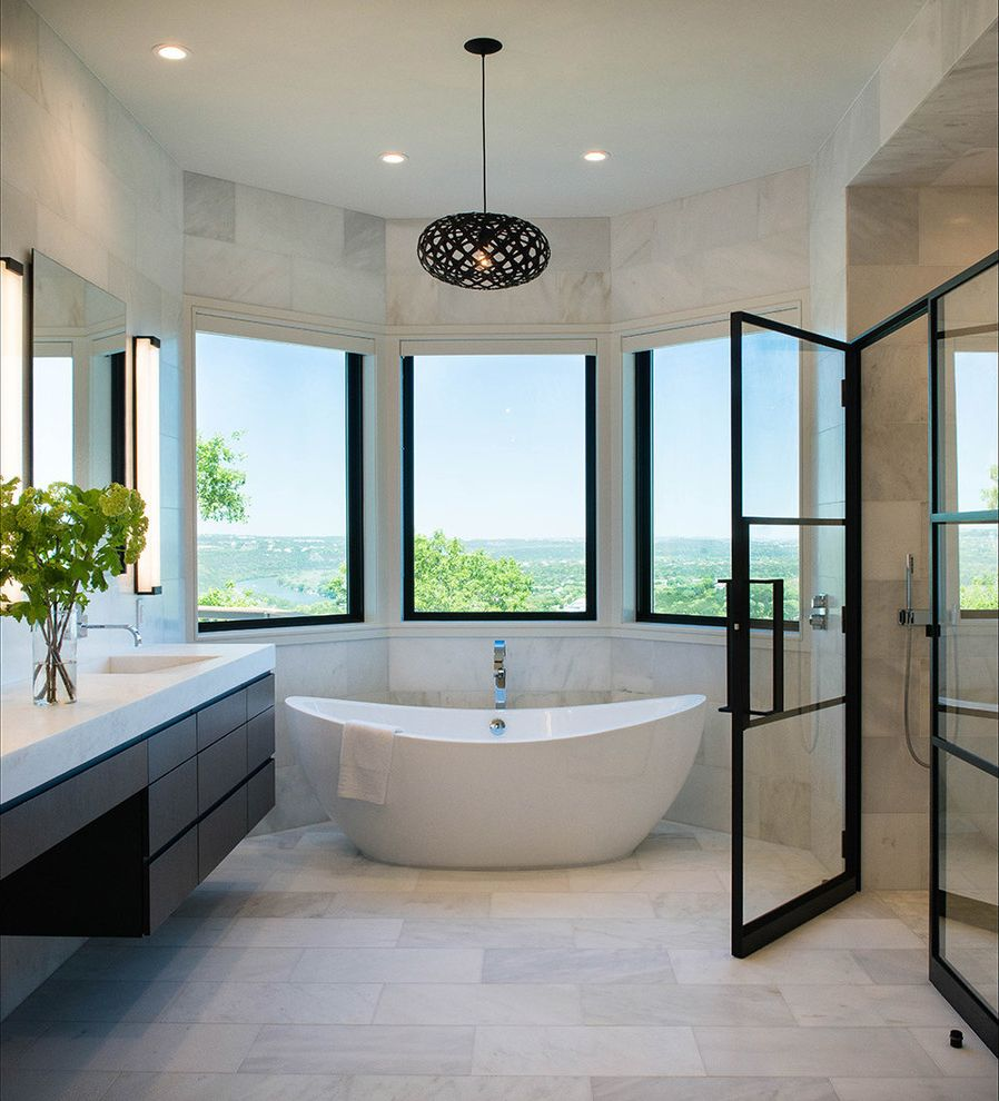 Shower Doors Of Austin With Contemporary Bathroom And Curved Walls