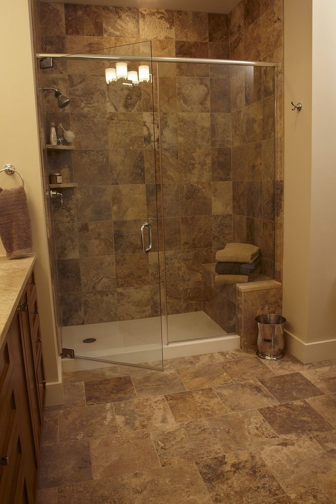 Shower Pan with Bench with Modern Bathroom Also Modern