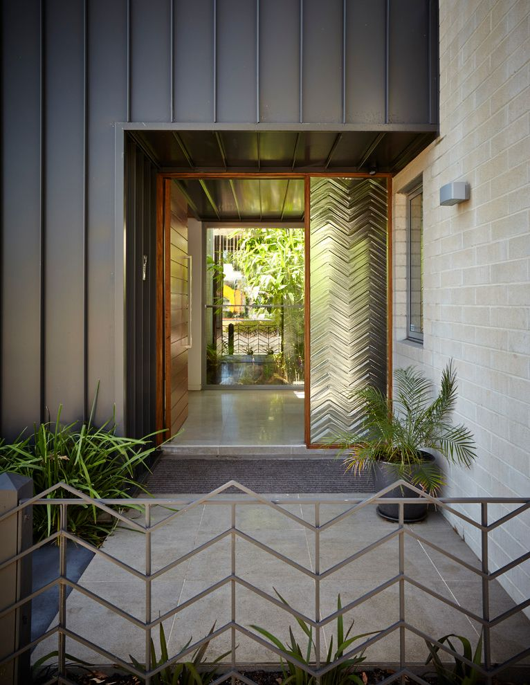 Sidelight Glass Panels with Contemporary Entry  and Contemporary Door Handle House Large Door Melbourne Metal Fence Modern Northcote Sidelight Vertical Metal Siding Wood Slat Door