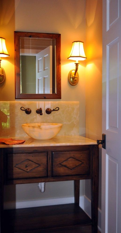 Sigma Faucets Traditional Powder Room Also Bathroom Guest ...