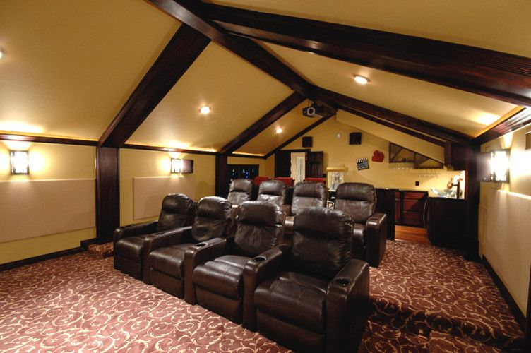 Signature Theaters    Home Theater  and Brown Leather Chairs Home Theater Home Theater Seating Theater