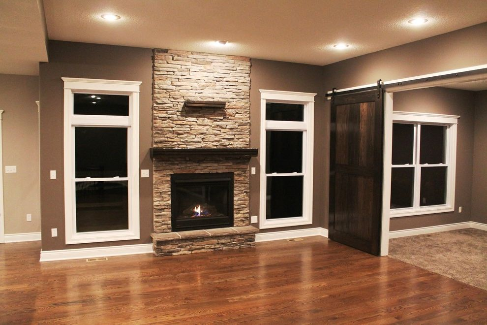 Silverline Windows   Rustic Spaces Also Barn Doors Centurion Stone Gas Fireplace Hardwood Hearth Heatilator Oak Doors Red Oak Floor Rustic Mantel Rustica Hardware Silverline Windows Sliding Doors Transom Windows