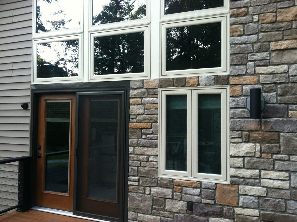 Silverline Windows with Modern Spaces Also Acorn Deckhouse Eldorado Stone Silverline Windows Thermatru