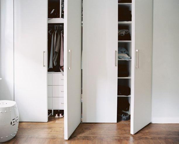 Simons Hardware with Modern Closet  and Asian Ceramic Stool Built in Closet Built in Storage Modern Closet Doors Satin Nickel Pulls Storage Organisation