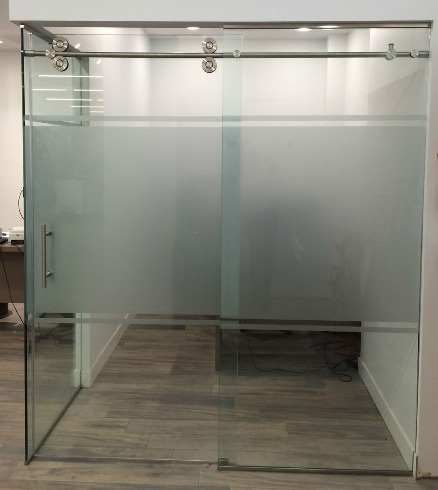 Simons Hardware with  Spaces  and Glass Doors Glasscrafters Office Doors