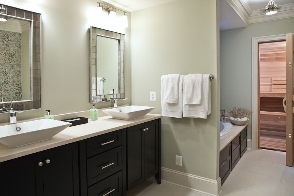 Sink in Spanish with Transitional Bathroom  and Transitional