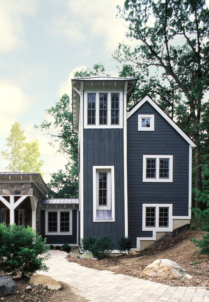 Blue With White Trim And Siding Houses Siding Hc154
