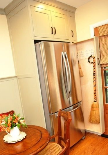Pull-out Broom Storage In A Kitchen $style In $location