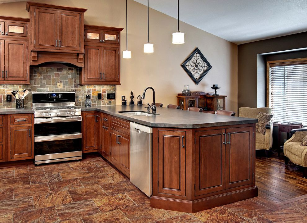 Small Leather Accent Chairs   Traditional Kitchen  and Traditional