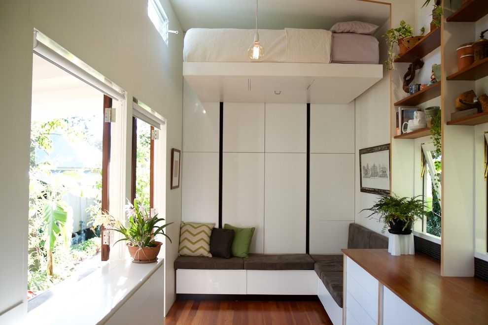 Smart Systems Pro   Contemporary Living Room  and Compact Deck Granny Flat Infill Development Modular Sub Tropical Tiny House Tiny House Company Tiny House Movement Tiny House on Wheels