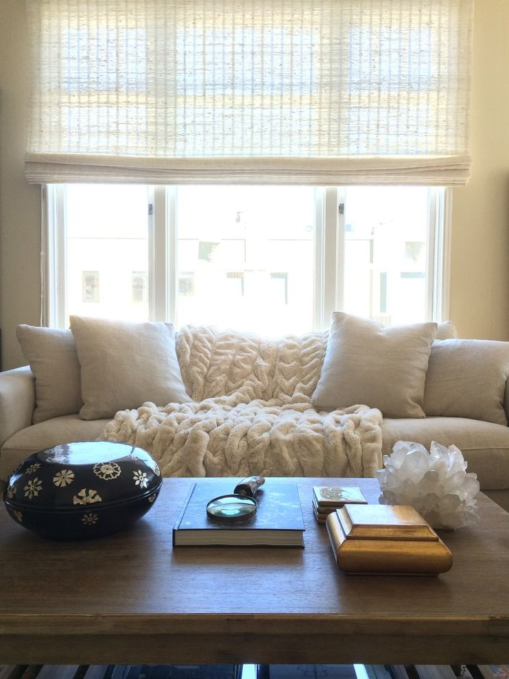 Smithandnoble Com Transitional Living Room Also Coffee Table Grass Shades Natural Woven Smith Noble Waterfall White Couch Window