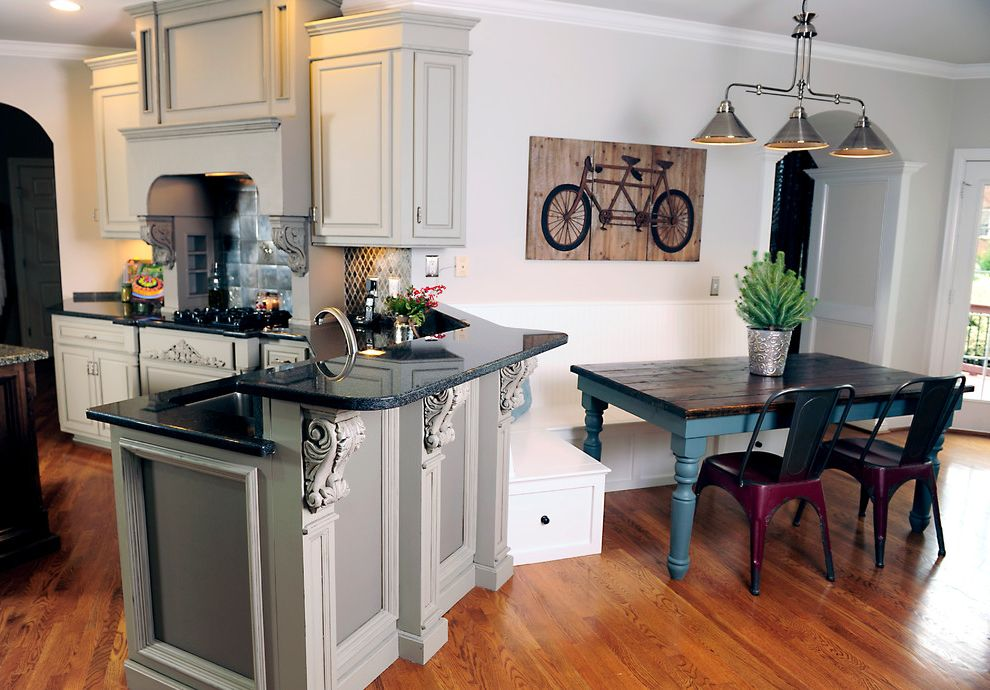 Southeastern Salvage Chattanooga Traditional Kitchen And Cabinet Refacing Cabinet Updating Corbels Gray Kitchen Cabinets Grey Kitchen Cabinets Kitchen Remodel Painted Kitchen Cabinets Range Hood Stove Hood Finefurnished Com