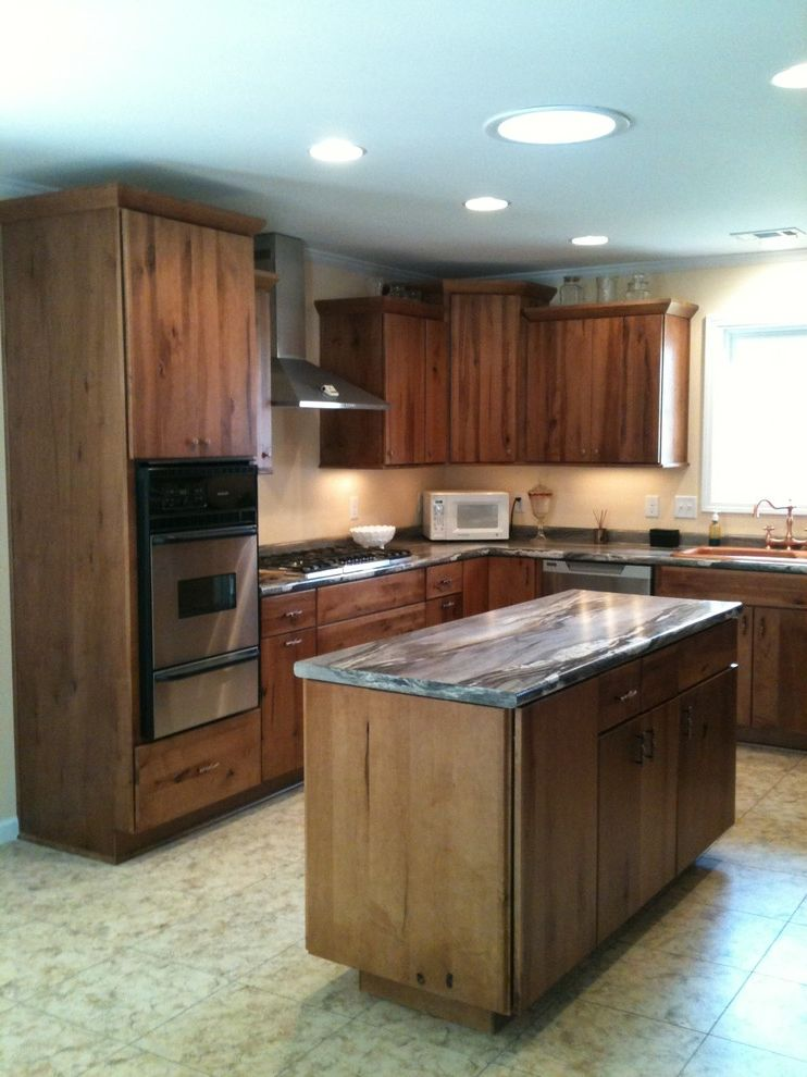 Southwire Carrollton Ga   Traditional Kitchen  and 3420 46 Dolce Vita Knotty Maple Traditional Rustic Style Kitchen