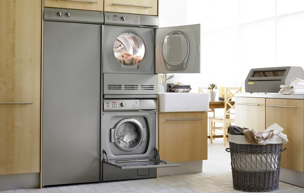 Speed Queen Top Loader with Modern Laundry Room  and Modern