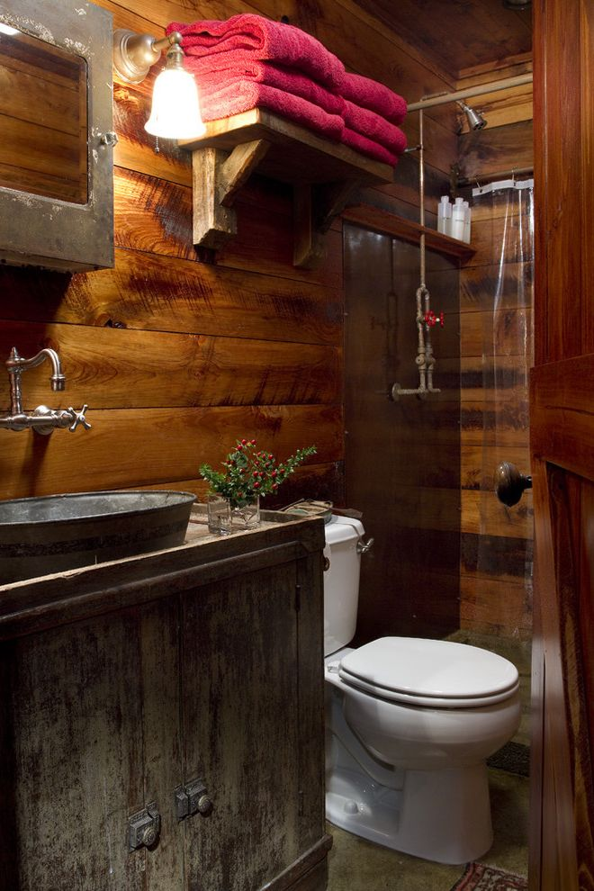 Speeds Auto Auction with Traditional Bathroom Also Cabin Cottage Craftsman Home Lake Lake Home Lodge Log House Metal Sink Primitive Shower Rusted Metal Mirror Rustic Rustic Shower Vanity Vessel Sink
