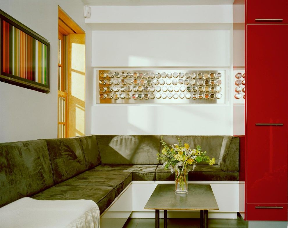 Spice Rack Plano   Modern Living Room Also Banquette Built in Seating Eat in Kitchen Floral Arrangement Red Cabinets Small Space Spice Rack Wall Mount Spices